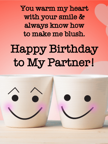 Cute Couple Mugs - Birthday Wishes Cards  for Lover