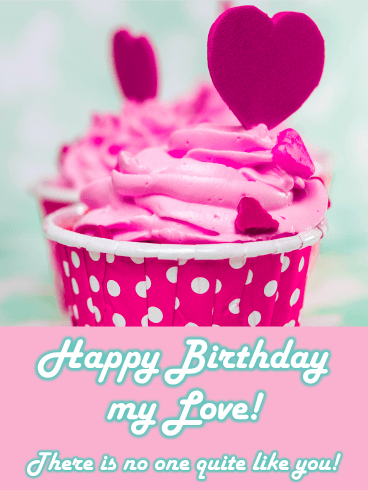 I heart U Cupcake - Happy Birthday Card for Lovers