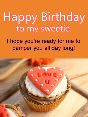 Love U Cupcake - Happy Birthday Card for Lovers