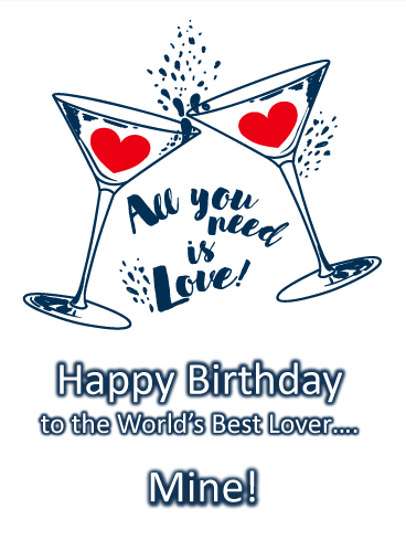 All You Need Is Love - Happy Birthday Card for Lovers