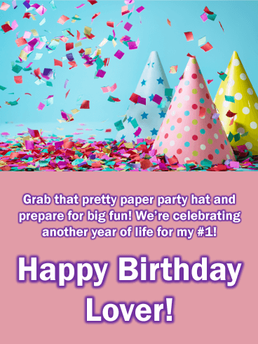 Pretty Party Hats - Happy Birthday Card for Lovers