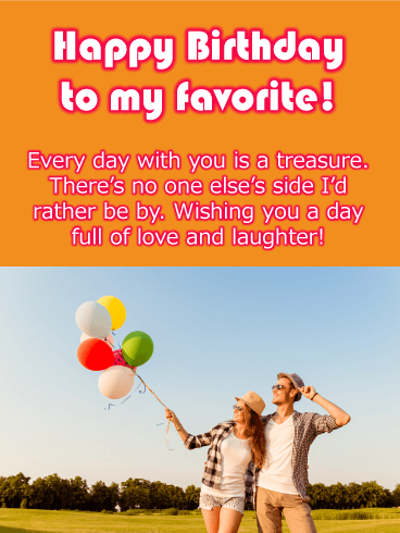 Couple In Love - Happy Birthday Card for Lovers