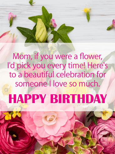 To a Beautiful Celebration - Happy Birthday Card for Mother