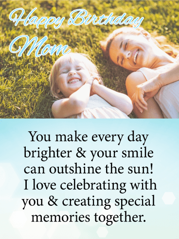 Laying and Laughing Together - Happy Birthday Card for Mother