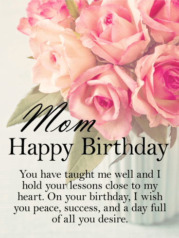 You've Taught me Well - Happy Birthday Card for Mother