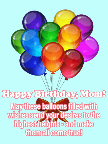 send your desires happy birthday card for mother birthday