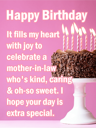 To my Sweet Mother-in-Law - Happy Birthday Card
