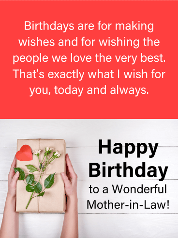Happy birthday mother in law messages with images birthday wishes birthdays are for making wishes and for wishing the people we love the very best m4hsunfo