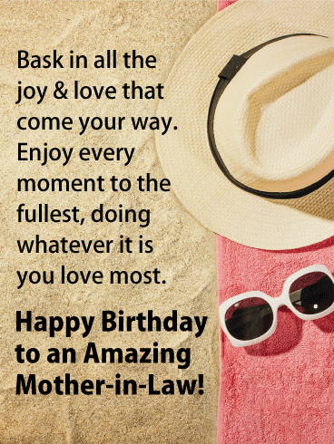 Enjoy Every Moment - Happy Birthday Card for Mother-in-Law