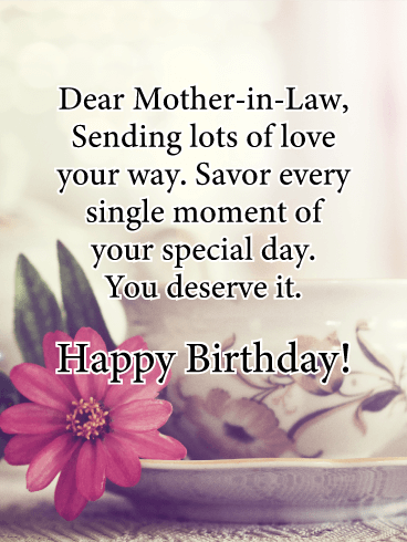 Sending Love - Happy Birthday Card for Mother-in-Law