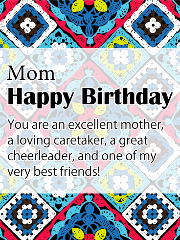 To my Great Cheerleader - Happy Birthday Card for Mother