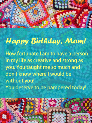 I am Fortunate - Happy Birthday Card for Mother
