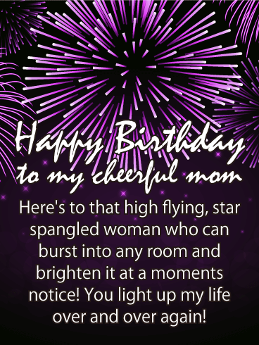 You Light up my Life - Happy Birthday Card for Mother