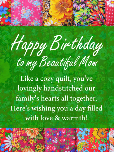 Love & Warmth - Happy Birthday Card for Mother