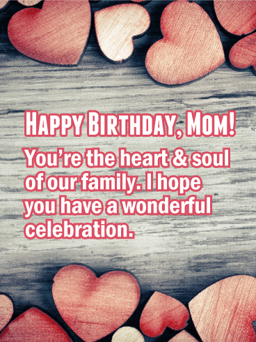You're the Heart - Happy Birthday Card for Mother