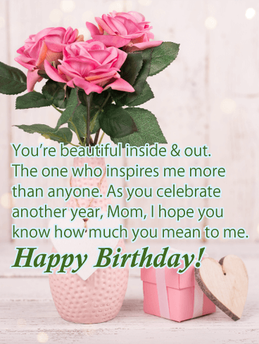 Lovely & Charming Happy Birthday Card for Mother