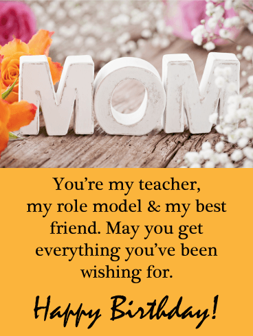 You're my Role Model - Happy Birthday Card for Mother