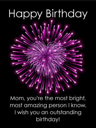 To the Most Bright Mother - Happy Birthday Card