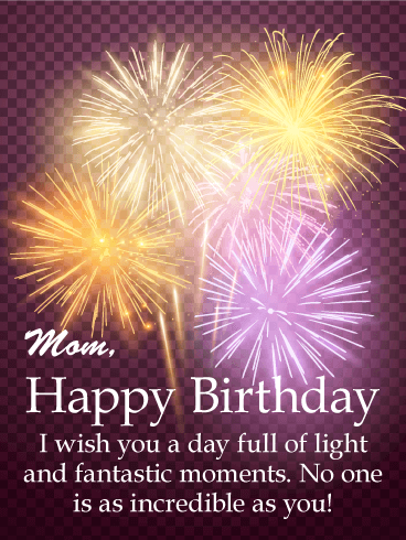 Full of Light - Happy Birthday Card for Mother