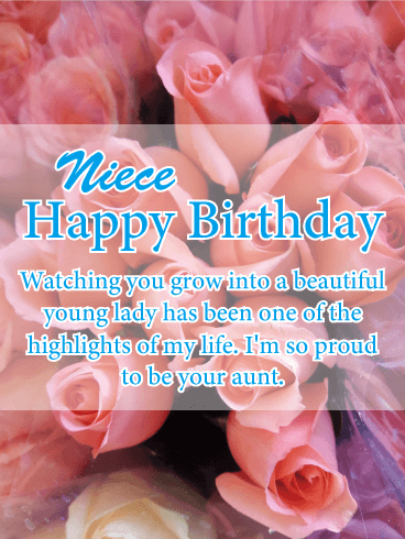 Im So Proud Happy Birthday Card For Niece Birthday Greeting