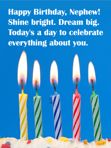 Shine Bright - Happy Birthday Card for Nephew