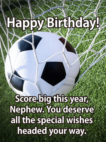 Score Big This Year! Happy Birthday Card for Nephew