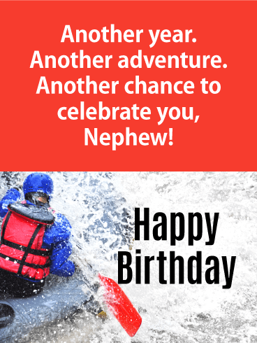 Another Adventure - Happy Birthday Card for Nephew
