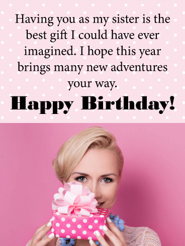 Youre The Best Gift Happy Birthday Card For Sister