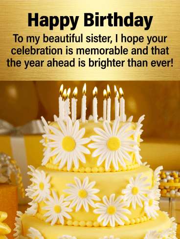 Have A Memorable Day Happy Birthday Card For Sister Birthday