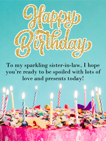 Birthday Cake Cards For Sister In Law Birthday Greeting Cards By