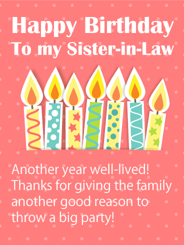 Happy Birthday Sister-in-Law Messages with Images - Birthday Wishes