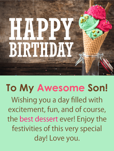 The Best Dessert! Happy Birthday Card for Son