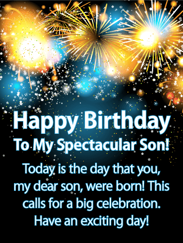 The Day You Were Born! Happy Birthday Card for Son