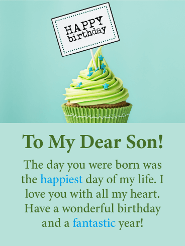 The Happiest Day -  Happy Birthday Card for Son