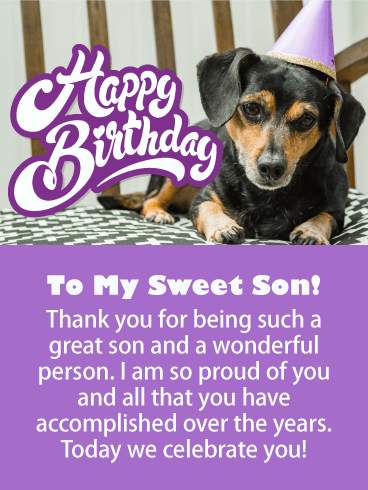 Such a Great Son - Happy Birthday Card