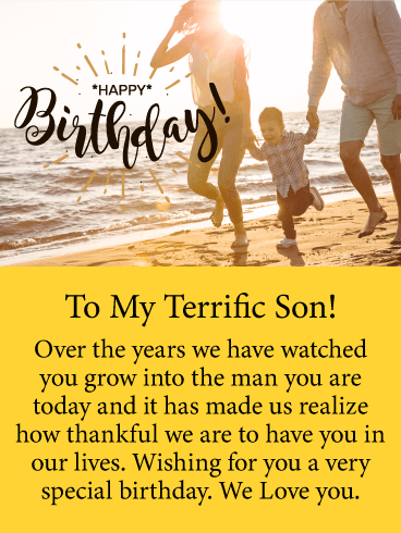 Thankful for You - Happy Birthday Card for Son