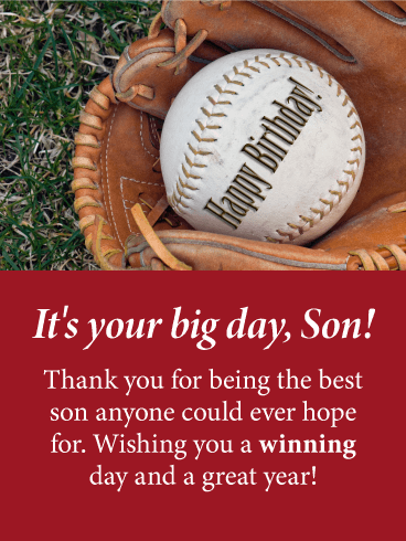 Have A Winning Day Happy Birthday Card For Son Birthday