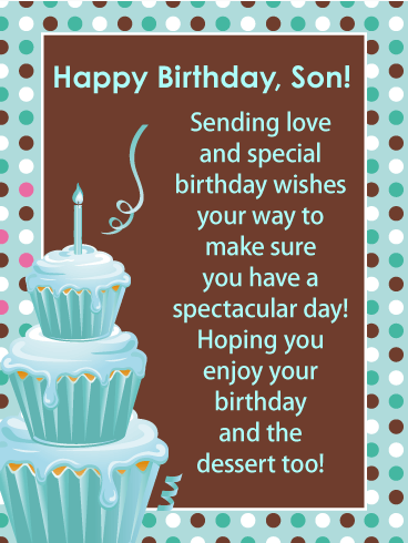 Fantastic Cupcakes - Happy Birthday Card for Son