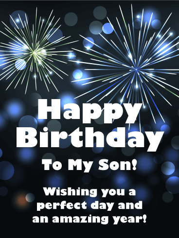 Wising You a Perfect Day! Happy Birthday Card for Son