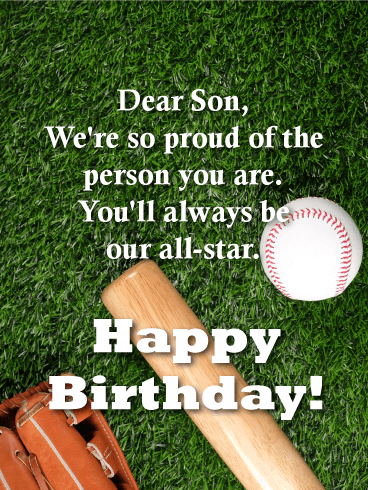 Always our All-Star! Happy Birthday Card for Son