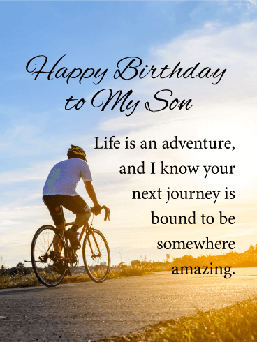 Life is an Adventure - Happy Birthday Card for Son