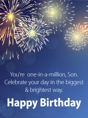 youre one in a million son celebrate your day