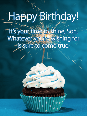 Time to Shine - Happy Birthday Card for Son