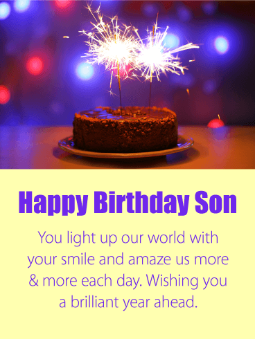 Have a Brilliant Year - Happy Birthday Card for Son