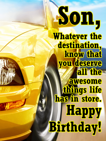 Hit The Road Happy Birthday Card For Son Birthday Greeting