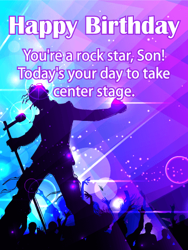 You're a Rock Star! Happy Birthday Card for Son