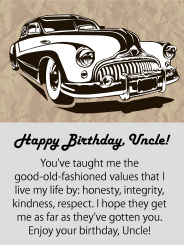 Admire You! Happy Birthday Card for Uncle