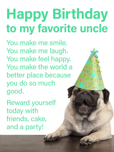 You Do So Much Good - Happy Birthday Card for Uncle