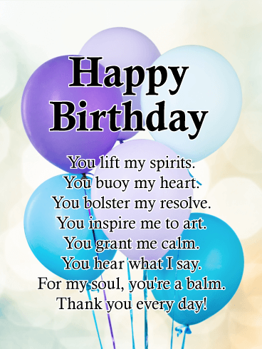Gratitude - Happy Birthday Card for Everyone