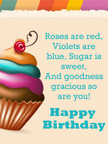 Sweet Cupcake - Happy Birthday Card for Everyone